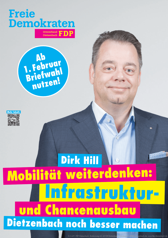 Plakat Dirk Hill – Mobilität